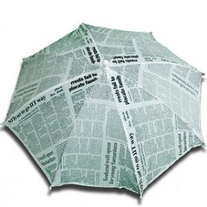 "Parasol production 16"" Newspaper Green 1 piece (PARASOL ANYWHERE)."