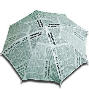 "Parasol production 16"" Newspaper 1 piece (PARASOL ANYWHERE)."